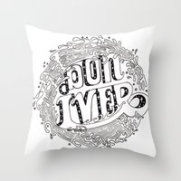 bon iver Throw Pillows featuring Bon Iver  by Infinity Arrows