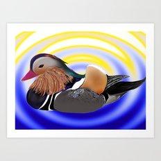 a duck Art Print