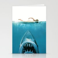 shark Stationery Cards featuring Shark by Maioriz Home
