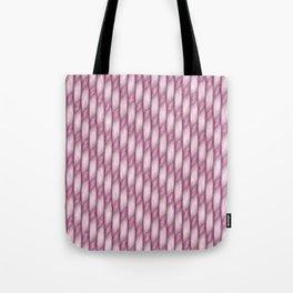 Pink Cross Weave Texture Tote Bag