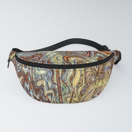 Scramble - Digital Abstract Expressionism Fanny Pack