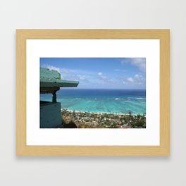 LaniKai Pillbox View Framed Art Print