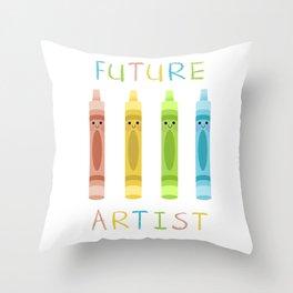Future Artist Throw Pillow