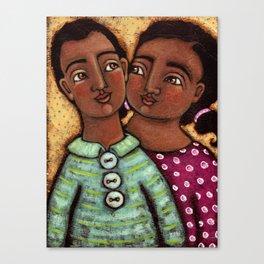 Sara and Raj Canvas Print