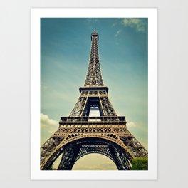 Eiffel Tower- Color Art Print