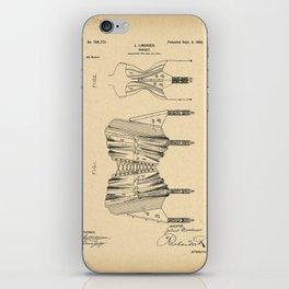 1902 Patent Corset iPhone Skin