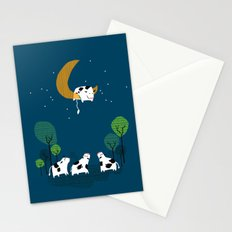 A cow jump over the moon Stationery Cards