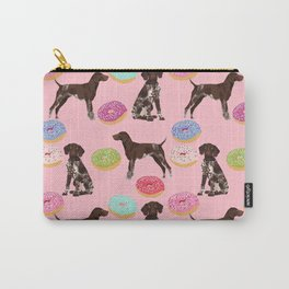 German Shorthair Pointer pink donuts dog breed art work pet portrait dog art furry fur baby Carry-All Pouch