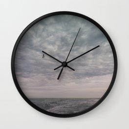 Flying seagull Wall Clock