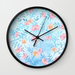 For the Roses Wall Clock