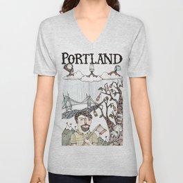 Portland, Oregon Unisex V-Neck