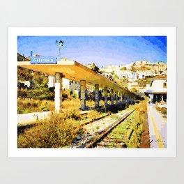 Catanzaro: railway station Art Print