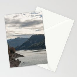 Autumn lake view Stationery Cards