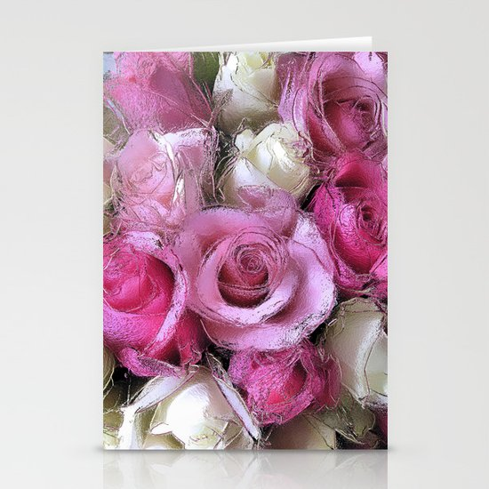 Glossy Roses Stationery Cards