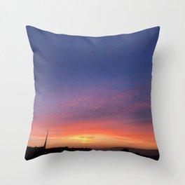 Purple landscape Throw Pillow