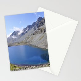 Alps Lake and Mountain Landscape Stationery Cards