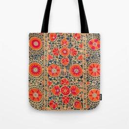 Kermina Suzani Uzbekistan Print Tote Bag