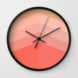 Building Coral Gradient Wall Clock