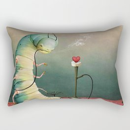 fairy tale story Wonderland with caterpillar and hookah Rectangular Pillow