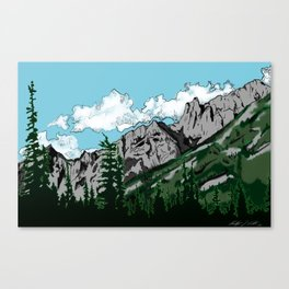Aged Mountains  Canvas Print