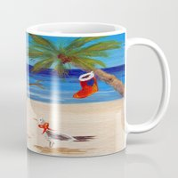 sandman Mugs featuring Christmas Sandman by Vivid Perceptions