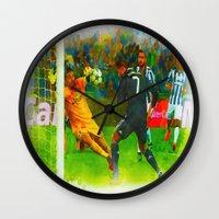ronaldo Wall Clocks featuring Cristiano Ronaldo - Job Done by Don Kuing