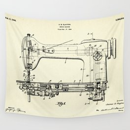 Sewing Machine-1944 Wall Tapestry