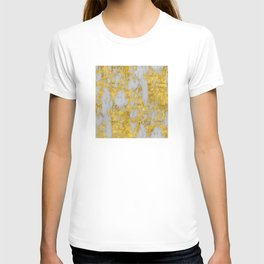Luxury 24-Karat Gold Marble on Velvet Cream T-shirt