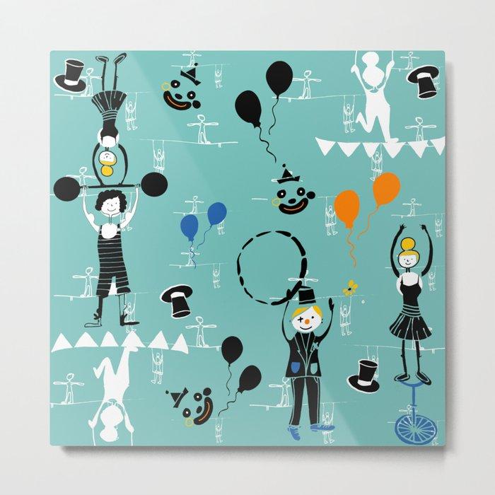 Acrobats blue Metal Print