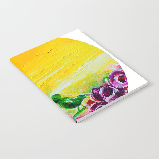 Hummingbird Heaven Summer Purple Flowers Notebook