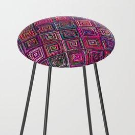 N46 - Arteresting Colored Traditional Boho Moroccan Artwork. Counter Stool