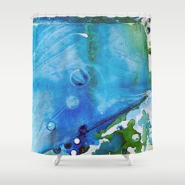 Ice Caps, Ice Bubbles, Environment Shower Curtain
