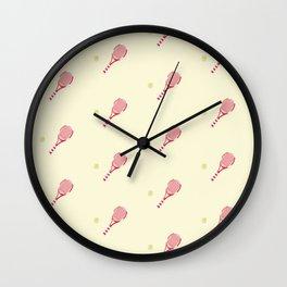 Tennis sport pattern Wall Clock