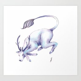 Eternal Deer Art Print