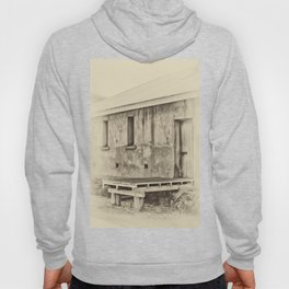 Antique plate style old loading dock Hoody