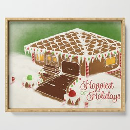 Happiest of Holidays Serving Tray