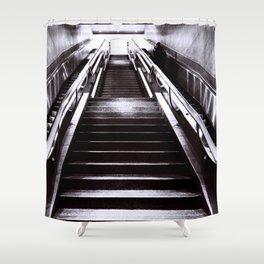 Silver Stairway Shower Curtain