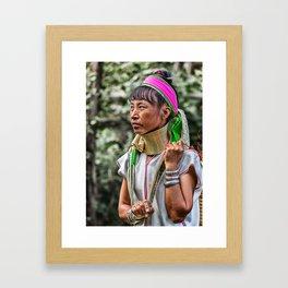 Long Neck Hill Tribe Woman Framed Art Print
