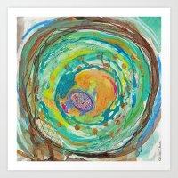 nest, spring nest, egg, summer Art Print