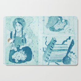 Anne of Green Gables Blue Cutting Board