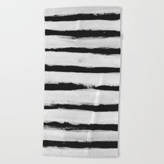 BW Stripes Beach Towel
