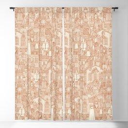 vintage halloween rust ivory Blackout Curtain