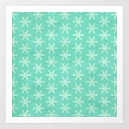 Asterisk Small - Turquoise Art Print