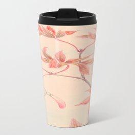 Japanese Maple Leaves Travel Mug