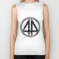 bands Biker Tanks featuring Floral bands by ART ON CLOTH