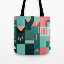 Teal Klee houses Tote Bag