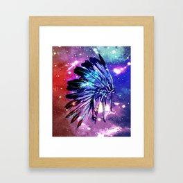 galaxy space headdress Framed Art Print