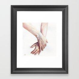 Watercolour Handstudy Framed Art Print
