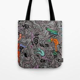 Kamasutra LOVE Doodle - Retro Colors 1 Tote Bag