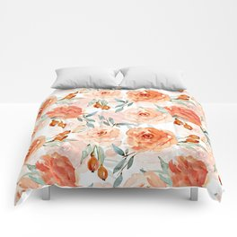 Living Coral Autumnal Roses Comforters